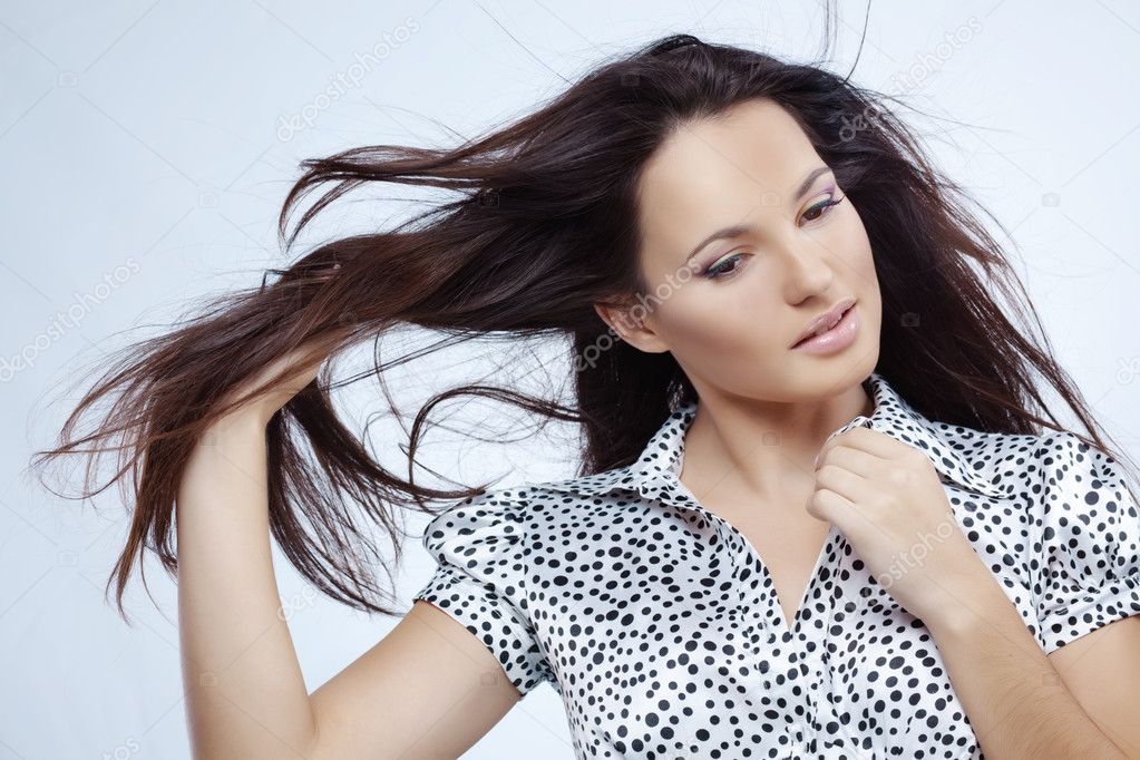 Portrait of very beautiful woman studio shot — Stock Photo #2788096