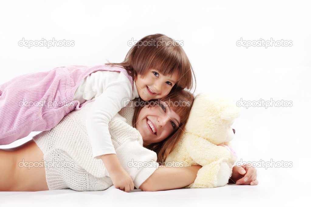 Portrait of loving mother with her child — Stock Photo #2788480