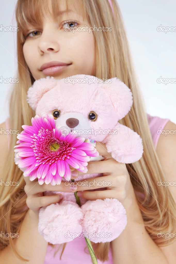 Portrait of beautiful young romantic girl in Valentines day  Stock Photo #2788697