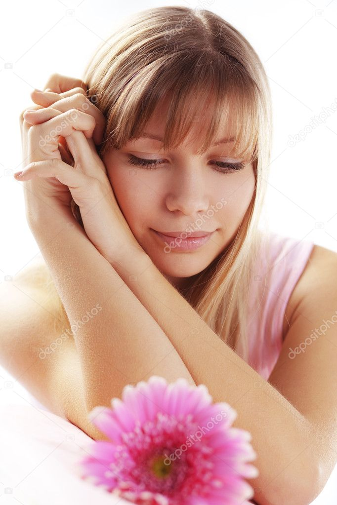 Portrait of beautiful young romantic girl falling in first love — Stock Photo #2788728
