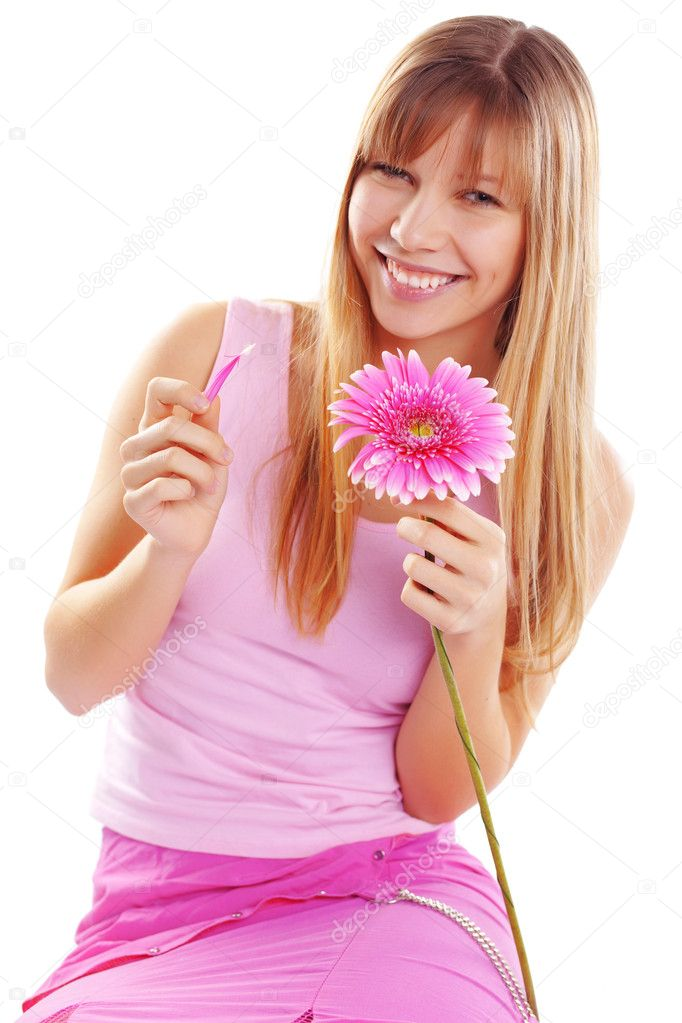 Portrait of beautiful young romantic girl — Stock Photo #2788746