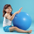 Royalty-Free Stock Photo: Child with gymnastic ball