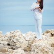 Stockfoto: Woman at beach