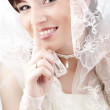 Stock Photo: Beautiful happy bride