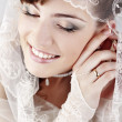 Beautiful happy bride — Stock Photo