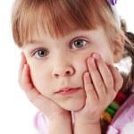 Funny lovely little girl — Stock Photo