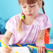 Stock Photo: Child painting