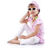 Fashion little girl — Stock Photo