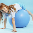 Child with gymnastic ball — Stock Photo