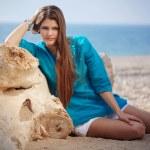 Beautiful girl on beach — Stock Photo #3056865