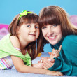 Happy mother with daughter — Stock Photo