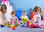 Kids playing with constructor — Stock Photo