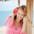 Girl at beach — Stock Photo #3193646