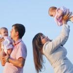 Happy family with children — Stock Photo