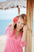 Girl at beach — Stock Photo