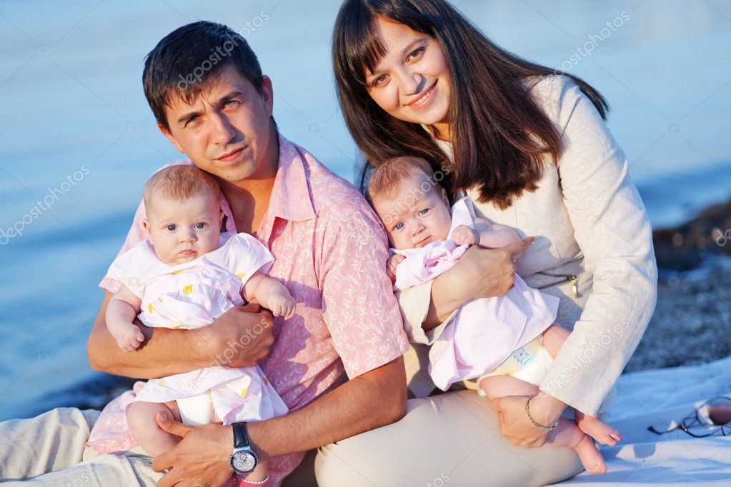 Young parents stock image