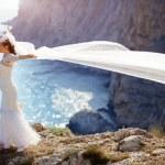 Bride over sea landscape — Stock Photo #3233176