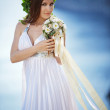 Bride over sea landscape — Stock Photo #3233251