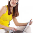 Student girl with laptop — Stock Photo #3546040