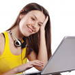 Stock Photo: Student girl with laptop