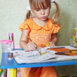 Child drawing at home — Stock Photo #3568458