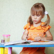 Child drawing at home — Stock Photo #3568462