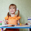 Child drawing at home — Stock Photo #3568469