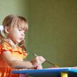 Child drawing at home — Stock Photo #3568474