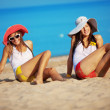 Girls at beach — Stock Photo #3583386
