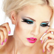 Fashion make-up - Stok fotoğraf