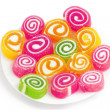 Colorful fruit-paste sweets — Stock Photo