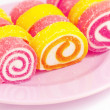 Colorful fruit-paste sweets — Stock Photo #3721540