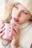 Winter coffee — Stock Photo