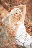 Autumn nymph — Stock Photo