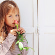 Stock Photo: Child holding rose