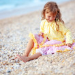 图库照片: Child at the beach