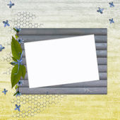 Wooden framework for photo — Stock Photo