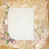 Papel em branco nota no plano de fundo texturizado — Fotografia Stock