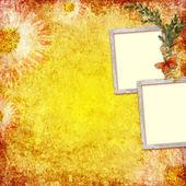 Retro background with decorative frames — Stock Photo