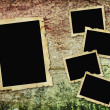 Vintage frames on wooden background — ストック写真