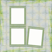Picture-frames on abstract background — Stock Photo