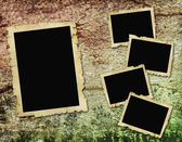 Vintage frames on wooden background — Stock Photo