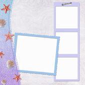 Mariene achtergrond met frames — Stockfoto