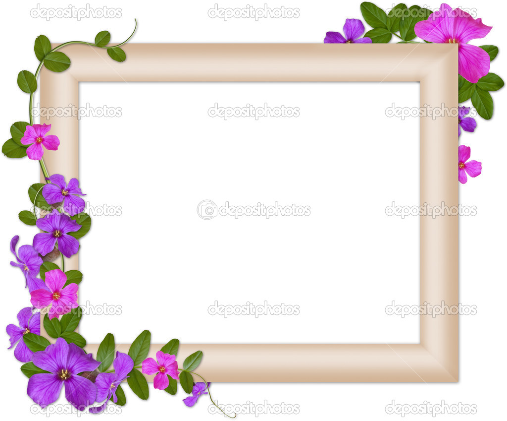 Romantic frame - Stock Image
