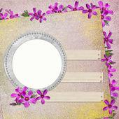 Letní pozadí s kruhem rámy — Stock fotografie