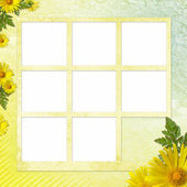 Summer background with frame — Stock Photo
