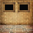 Royalty-Free Stock Photo: Old grunge interior with  frames