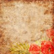 Stock Photo: Vintage paper with flowers