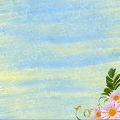 Floral fundo para convite ou parabéns. — Foto Stock