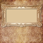 Retro background with decorative frame — Stock Photo